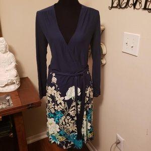 Old Navy - Blue Floral Wrap Dress